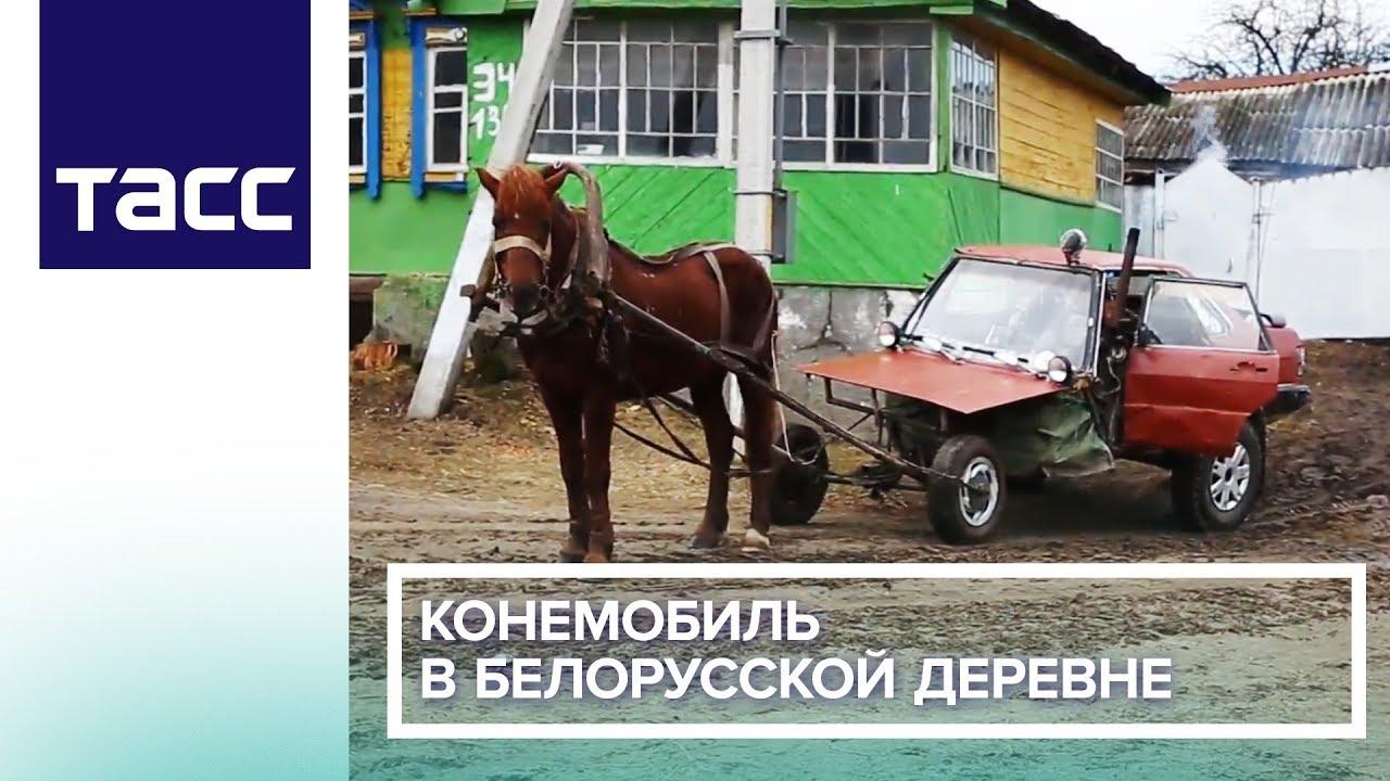 Конемобиль в белорусской деревне
