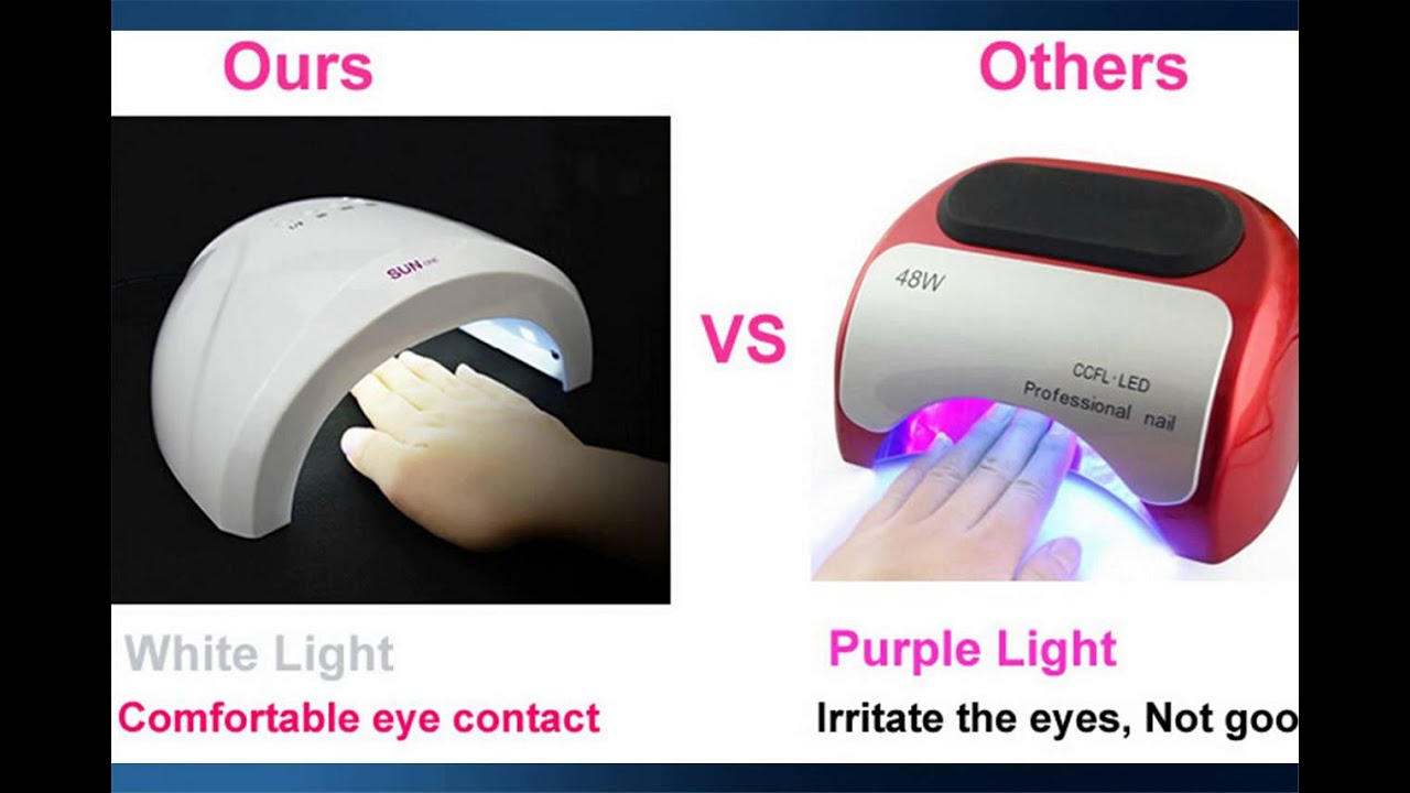 Charming 48W While Light LED Nail Lamp Curing ALL UV Gels +LED Gels+Builder     NEW!!!   YouTube