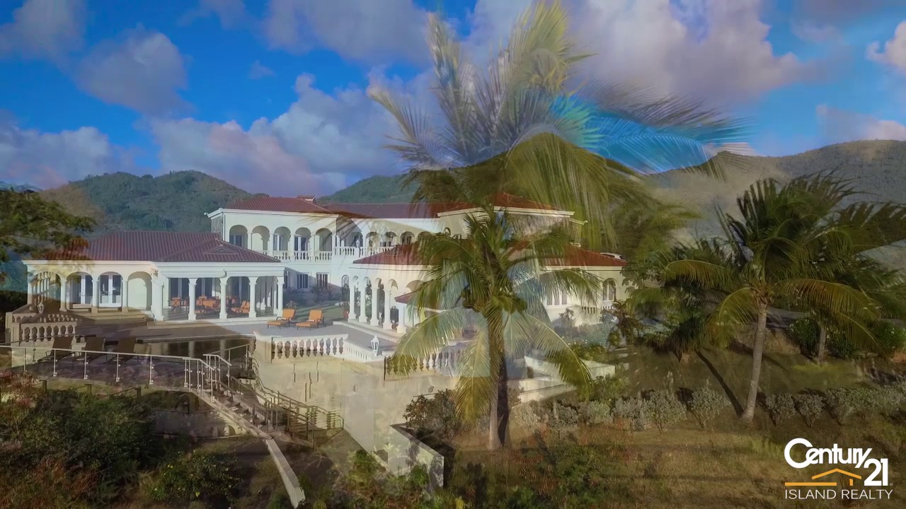 Villa Les Jardin de Bellevue for sale by Century 21 St Maarten - YouTube