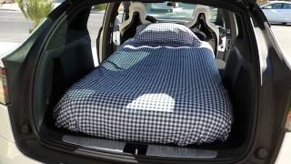 Tesla Model X 5 seater with Twin Bed