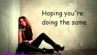 Miley Cyrus - Stay (Lyrics).flv