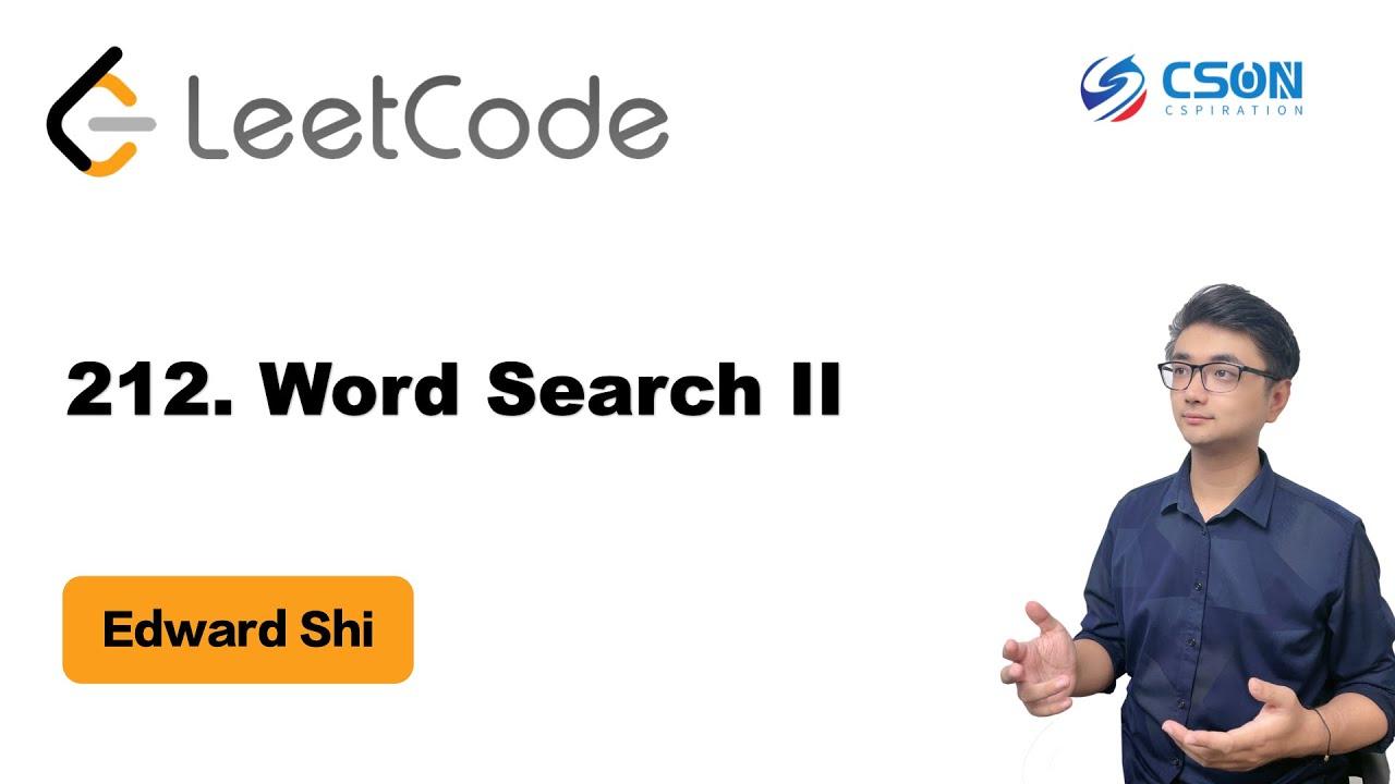 Leetcode 425 Word Squares Analysis & Implementation by Jie Wu
