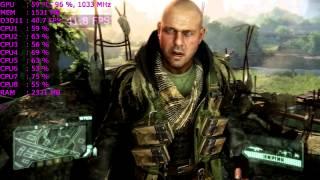 Разгон видеокарты Radeon 7970. Тесты fx-8350 5GHz в играх CRYSIS 3, World of Tanks, Battlefield 4