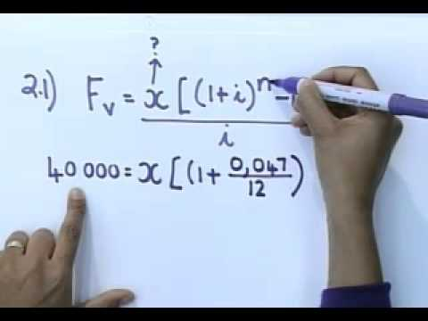 Matric revision: Maths: Financial Mathematics (4/6): Future value, Example 2