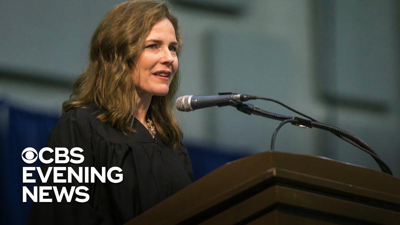 President Trump nominates Amy Coney Barrett as Democrats threaten to slow down the process