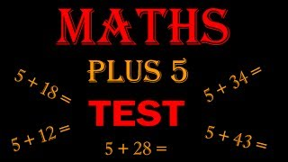 maths online - math for kids Plus 5 TEST