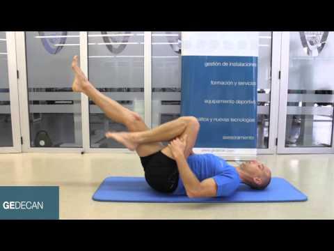 Ejercicio Pilates Estiramientos con una pierna (one leg stretch) ,ejercicios nivel básico Pilates