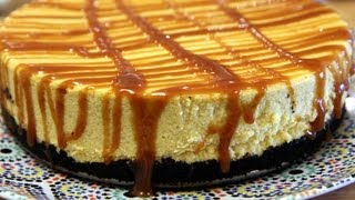 White Chocolate Pumpkin Cheesecake Recipe - Cookingwithalia - Episode 214