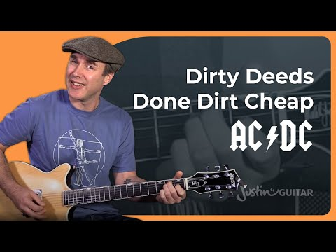 AC/DC - Dirty Deeds Guitar Lesson Tutorial - Chords Strumming Malcolm Angus