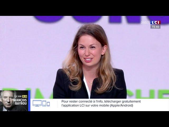 Marion Pariset, secrétaire générale du Millénaire, invitée sur LCI le 26 septembre 2021