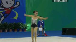 Ding Yidan Hoop AA Final China National Games 2009 丁一丹十一运个人全能决赛圈操