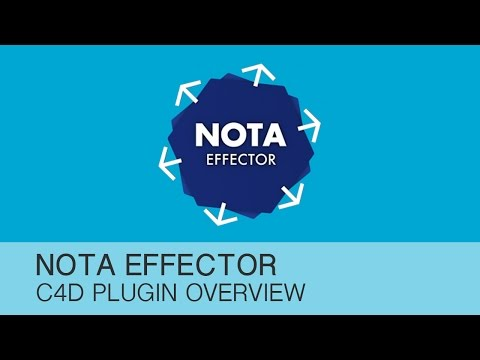 Cinema 4D tutorial - NOTA Effector plugin