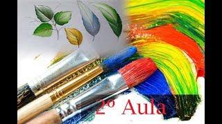 2º Aula Curso de Pintura – Aprenda a Pintar Alguns Modelos de Folhas