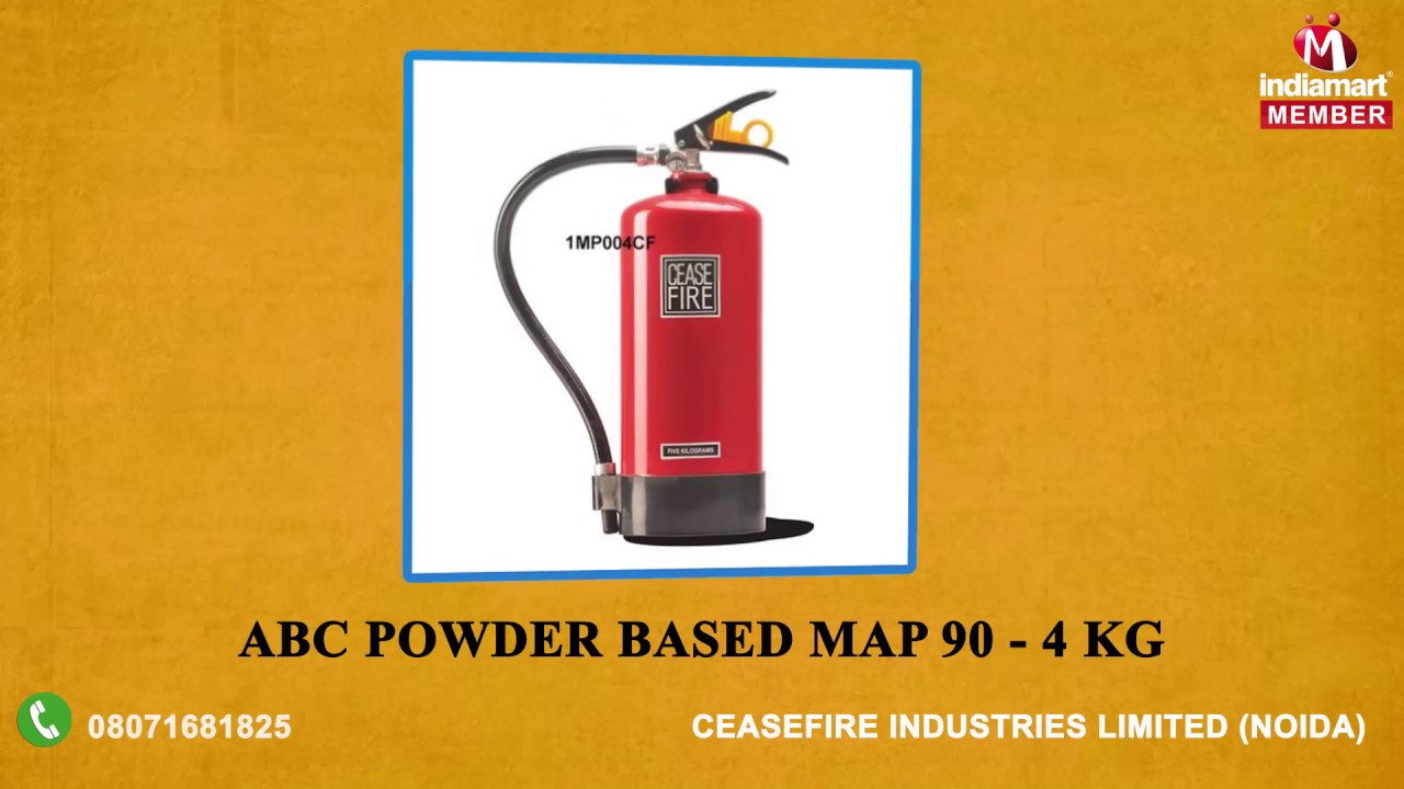 Map 90 Fire Extinguisher.Ceasefire 6 Kg Abc Powder Map 90 Based Fire Extinguishers