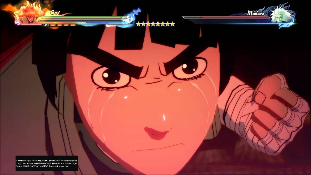naruto shippuden ultimate ninja storm 4 guy sensei s death gate
