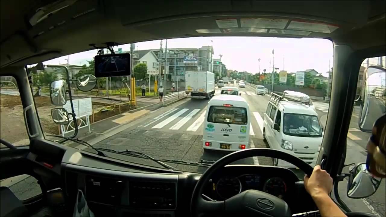 大型トラック 低床四軸の目線の高さ② The Truck Driving In Japan Youtube