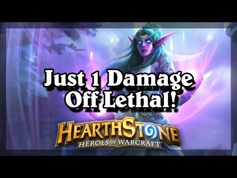 Hearthstone - Just 1 Damage Off Lethal!