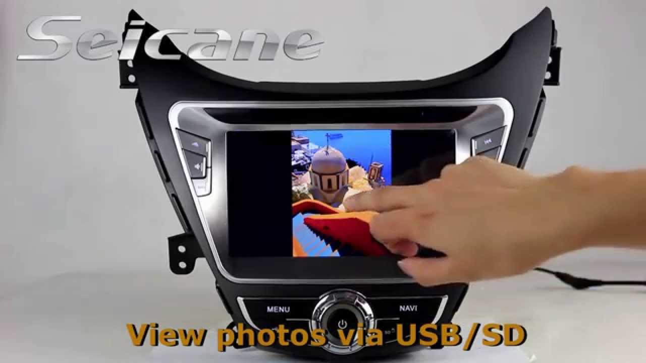 Hot 2012 2013 2014 Hyundai Elantra Gps Radio Audio System With Bluetooth Music 3g Module