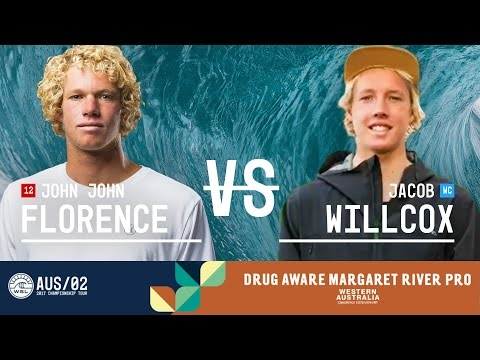 John John Florence vs. Jacob Willcox - Round Three, Heat 6 - Drug Aware Margaret River Pro 2017