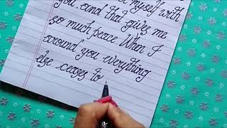 How to write LOVE LETTER neat n clean Stylish Handwriting