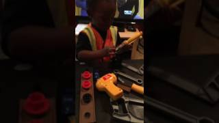 Play Time!   Kid Construction worker   Tool Bench Playset