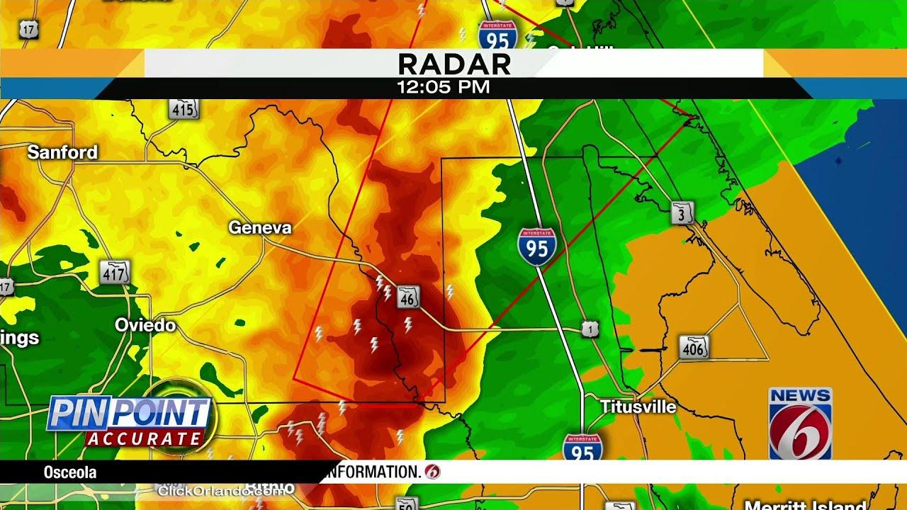 Severe storms traveling through Central Florida, temperatures begin ...