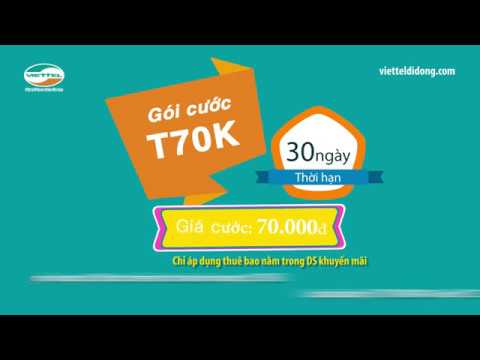Cách đăng Ký Gói Cước T70K Viettel | Chỉ 70K/tháng Gọi 500p Nội Mạng + 150SMS Miễn Phí