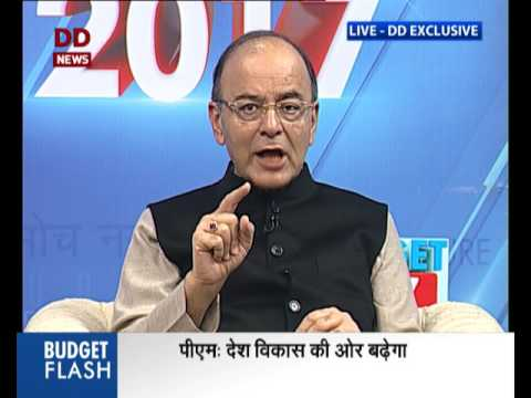 First Exclusive Interview of FM, after presenting Budget, 2017