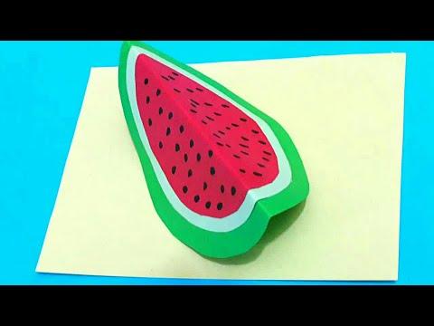 Diy 3d fruits  with paper كيف أصنع فواكه ثلاثي الأبعاد من الورق