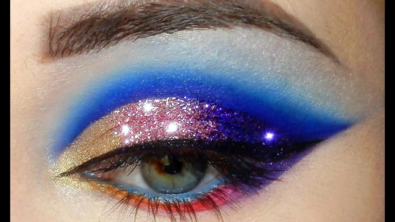 Как сделать яркий макияж глаз фото 207
