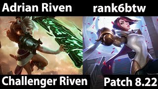 [ Adrian Riven ] Riven vs Fiora [ rank6btw ] Top  - league of legends 8 23