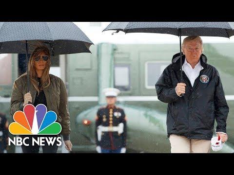 Donald Trump in Texas to Survey Harvey Damage (Full) | NBC News