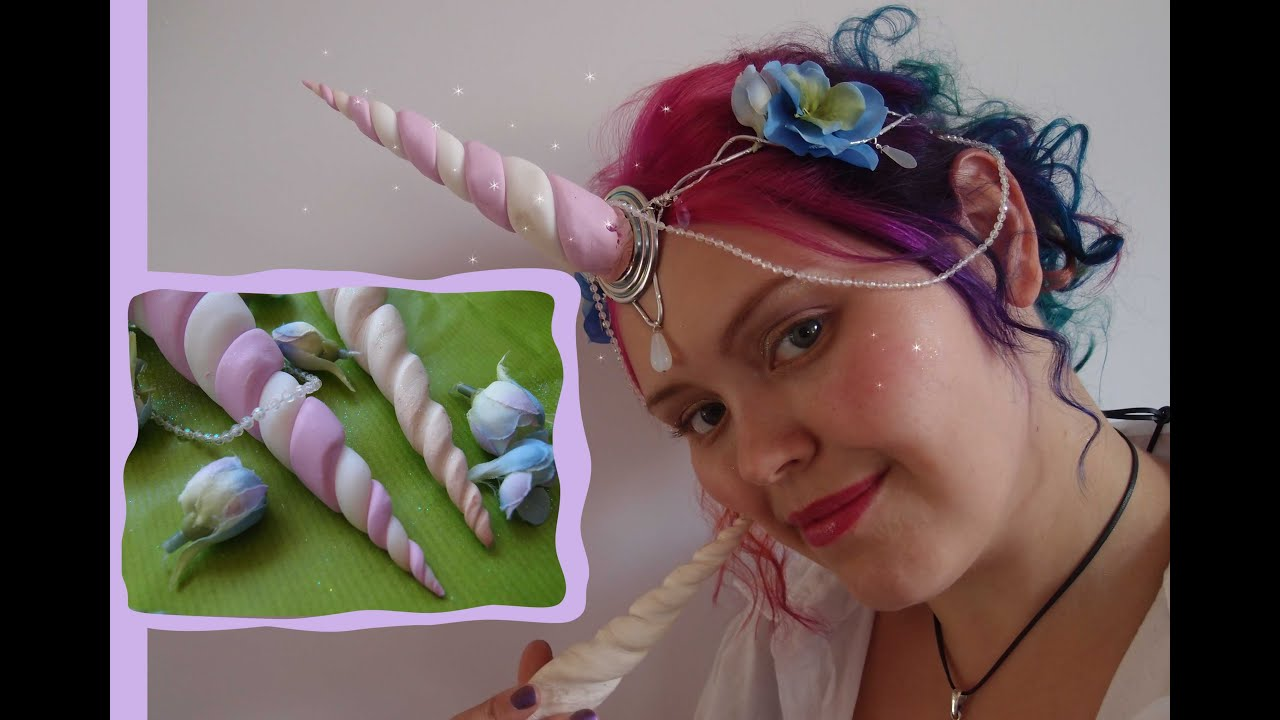 Diy unicorn horn headpiece tutorial youtube solutioingenieria Choice Image