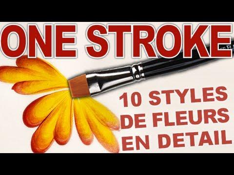 photo nail art debutants 10 styles de fleurs one stroke