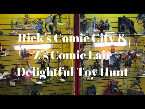 Rick's Comic City & Z's Comic Lair: Delightful Toy Hunt