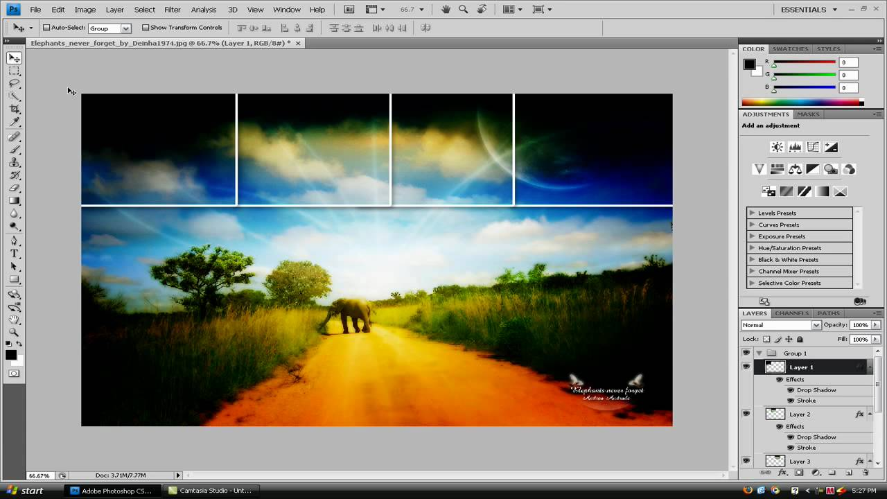 Color Editing Tutorial for warm film photo effects with Photoshop CS4 | Tribe RedLeaf - Element Air