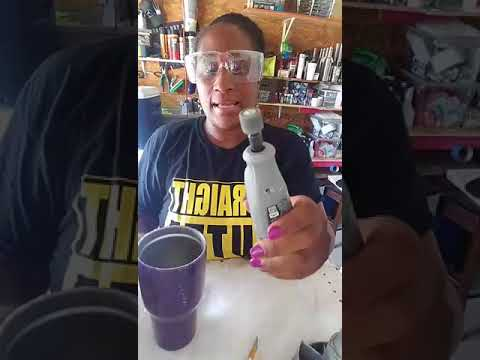 Hanging method: sanding the cup and cleaning the lip