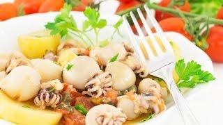 Овощное соте с морепродуктами