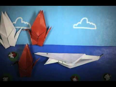 origami stop motion animation youtube