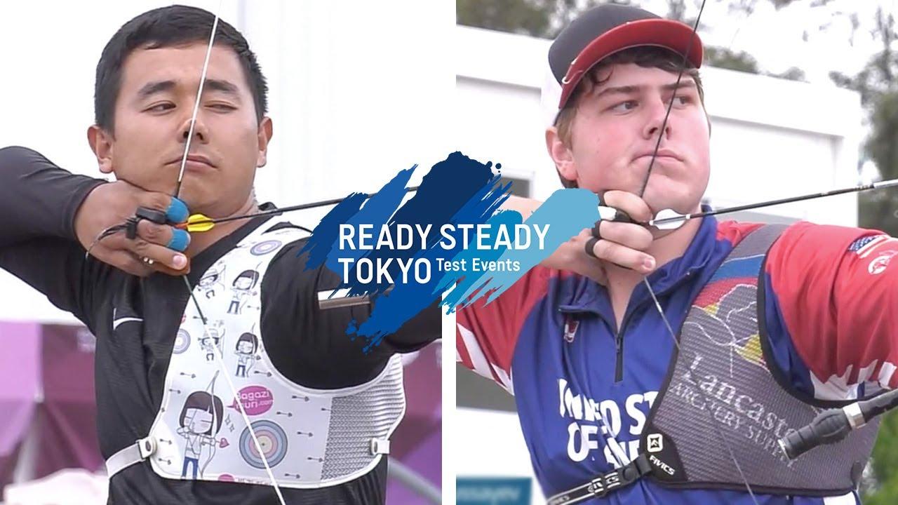 Traditional Archery Events 2020.Sanzhar Mussayev V Jack Williams Recurve Men 2nd Round Tokyo 2020 Olympic Test
