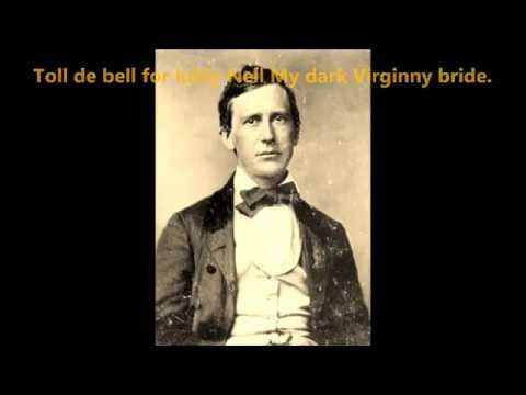 NELLY WAS A LADY by Stephen Foster words lyrics best popular old American folk songs sing along