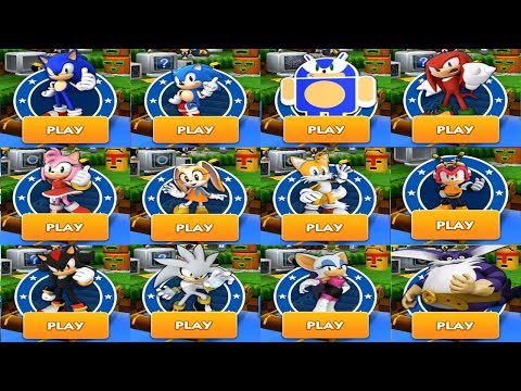 Sonic Dash - SONIC VS KNUCKLES SHADOW AMY TAILS CREAM SILVER BIG ROUGE CHARMY