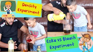 SINK OR FLOAT DENSITY Tower  experiment and BLEACH VS COKE science Experiments YOU Can Try at Home!