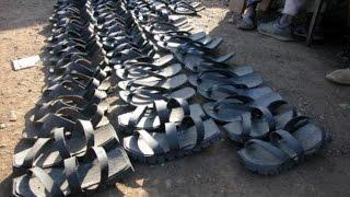 Наш ответ на санкции)))Обувь своими руками.Сандалии из автомобильных шин