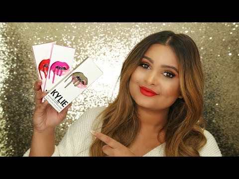 KYLIE COSMETICS NEW LIQUID LIPSTICK BOSS, IRONIC & SAY NO MORE REVIEW & SWATCHES