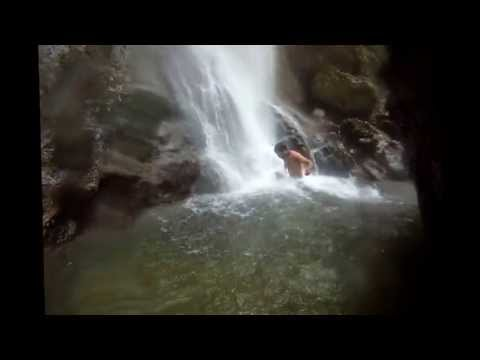 2013 meditation under waterfall FRANCE