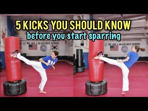 BASIC SPARRING KICKS (beginners) | Samery Moras Taekwondo