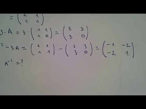 Operatii cu matrice de ordinul 2, inversa unei matrice aplicatie