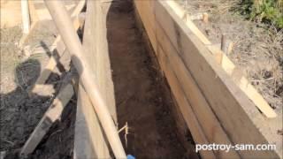 Как копать траншею под фундамент(Как копать траншею под фундамент своими руками?, 2014-12-30T23:15:21.000Z)
