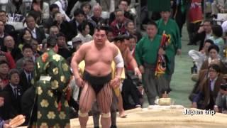 2017大相撲大阪春場所での日馬富士 vs 松鳳山の取組。